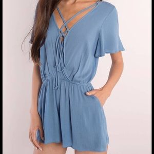 Powder blue romper Tobi